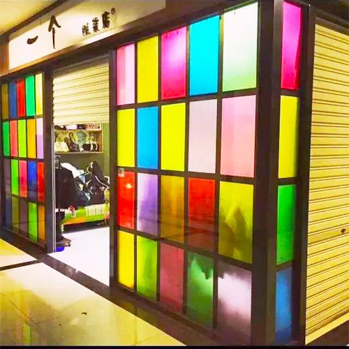 玻璃贴膜窗户贴纸彩色磨砂贴膜阳台浴室镭射纸玻璃贴纸透光不透明