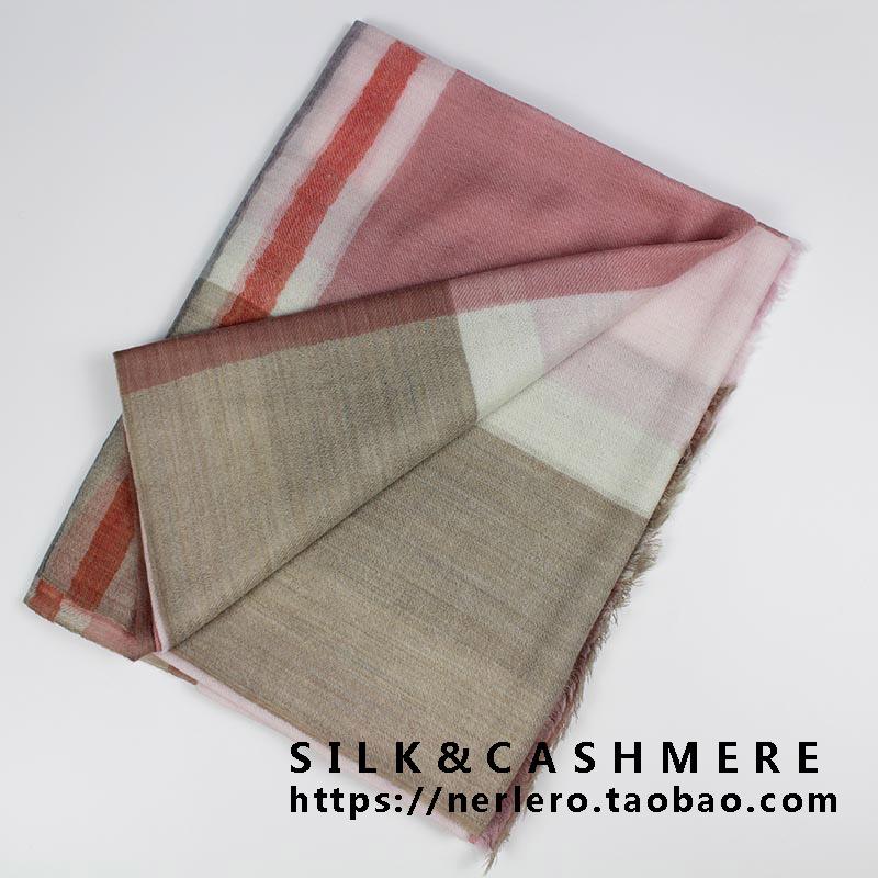 Lightweight water soluble wool scarf new feel PI beautiful cashmere versatile English stripe Plaid