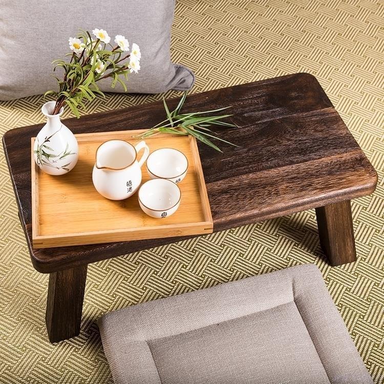 飘窗桌实木小户型茶几简约迷你阳台茶桌炕桌长桌日式榻榻米矮桌子