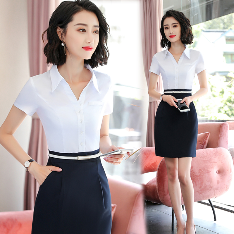 2019 new professional dress womens summer fashion temperament ol tooling skirt womens work clothes for office workers