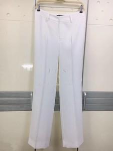 JFS新款真丝缎百搭显瘦时尚西装裤休闲裤女长裤