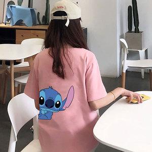 8310#實拍短袖T恤女夏2020新款韓版學生網紅bf風寬松半袖ins上衣