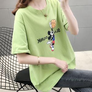 109實拍#純棉時尚米奇老鼠印花短袖T恤女裝2020新款夏季圓領潮女