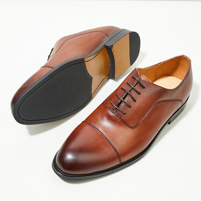 British three joint Oxford Shoes Mens business formal leather shoes Italian Goodyear leather sole handmade shoes