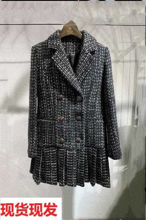 羊毛粗花呢小香风外套女初秋连衣裙满175.00元可用1元优惠券