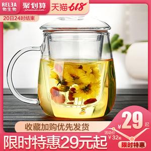 领2元券购买物生物过滤家用茶水分离网红玻璃杯