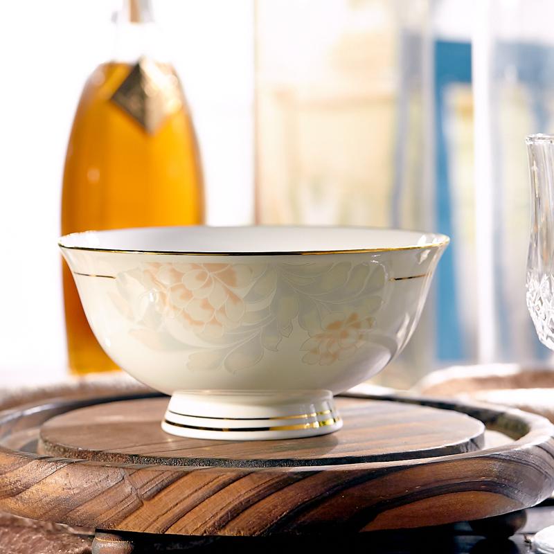 遠業~骨瓷飯碗4.5寸高足米飯碗陶瓷碗 10個裝景德鎮瓷器餐具家用