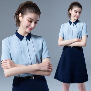 职业套装夏季短袖面试高端气质套裙