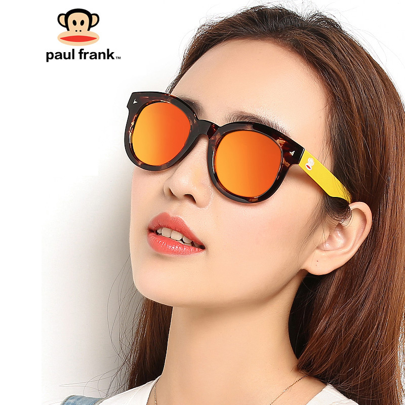Paulfrank / monkey Sunglasses female TR90 retro 1612 polarized male fashion color fashionable round sunglasses
