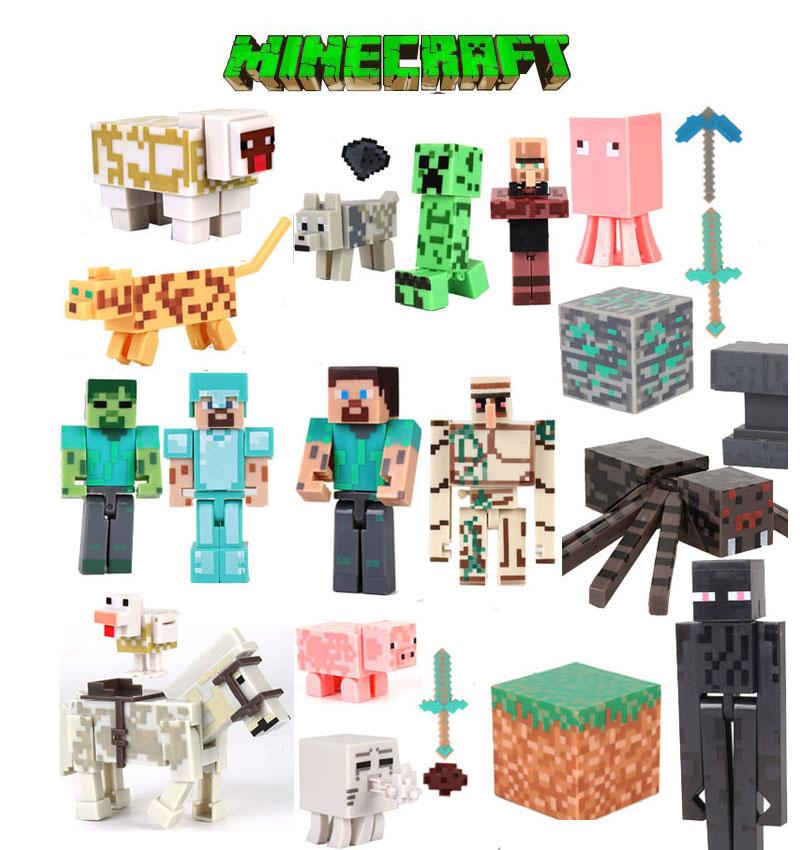 我的世界玩具积木模型益智拼装人偶人仔Minecraft史蒂夫儿童玩具