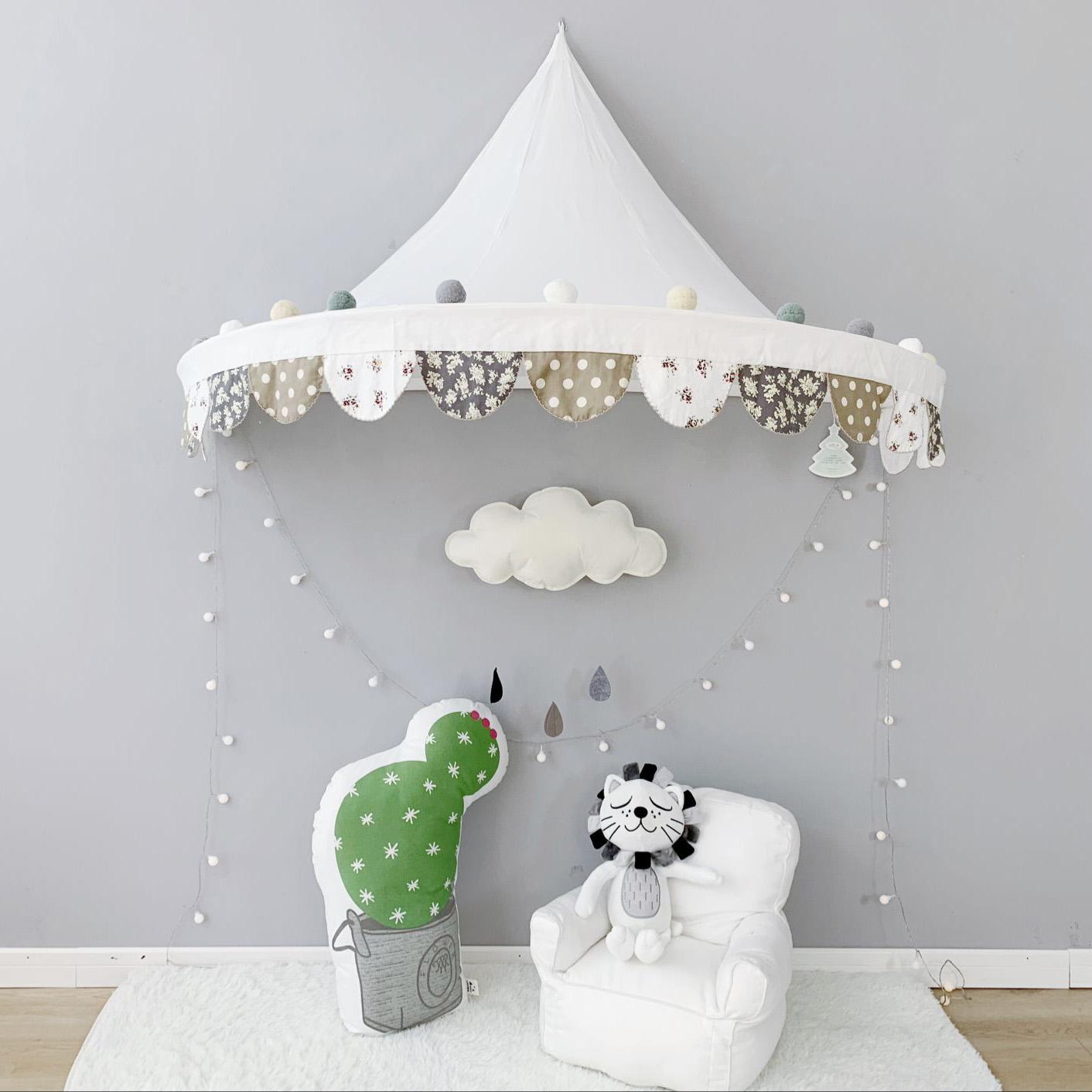 儿童帐篷游戏屋北欧的星星玩具屋纯棉床篷墙面装饰读书角分床神器119.00元包邮