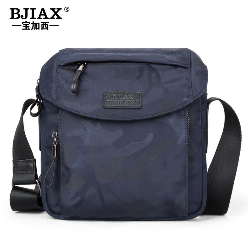 New Men's Bag Single Shoulder Bag Sports Young Men's Bag Tidal Waterproof Oxford Slant Bag Canvas Backpack Slant Straddle Bag