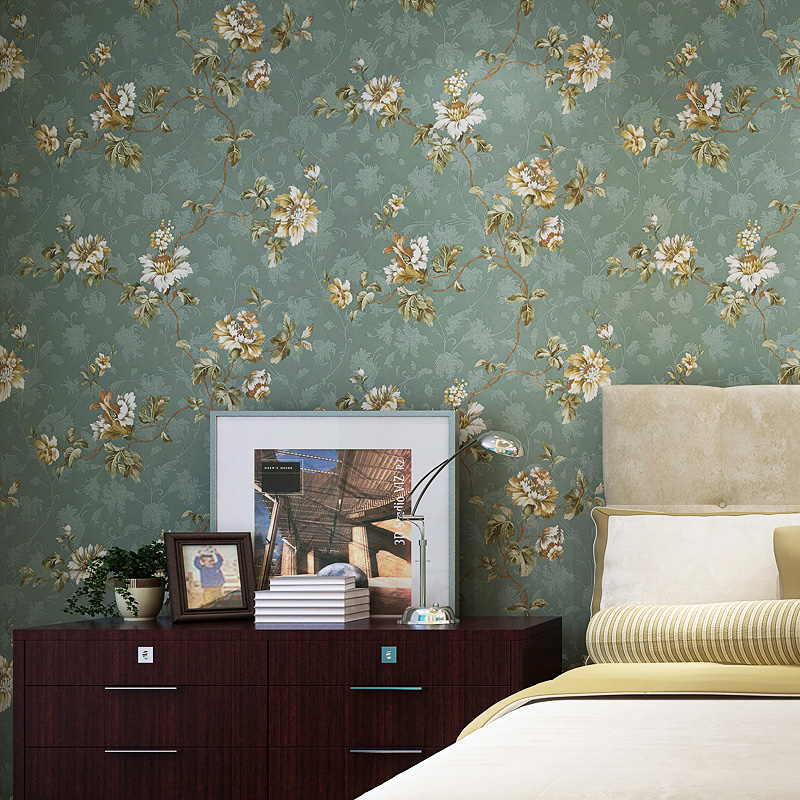 Метр корона ретро американский страна сельская местность большой цветок чистый бумага обои спальня гостиная диван фон стена бумага классическая