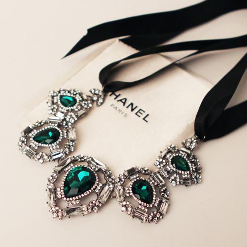 Почта Королевский стиль супер Flash драгоценность ленты Lanvin Lanvin кристаллов ожерелье свитер цепи в Европе и корейской версии