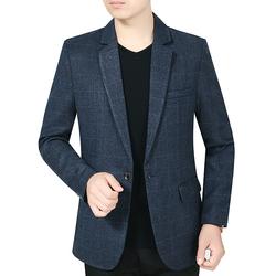 中年男士西服男装春秋上衣男式中老年人西装外套爸爸装8803P75
