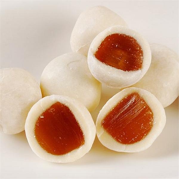 广东特产好利源食品夹心糖果喜糖脆皮鲜乳球香芋味250g称重约55个