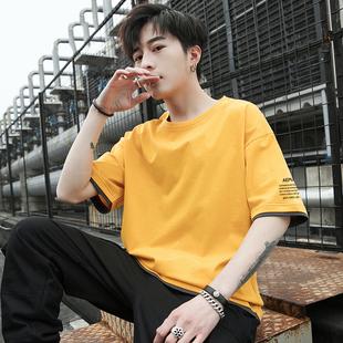 夏季2019新款纯棉短袖男休闲t恤