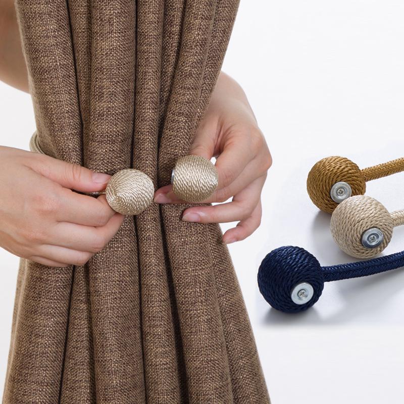 窗帘绑带现代简约 创意磁铁窗帘扣环挂钩墙钩绑带窗帘夹免打孔