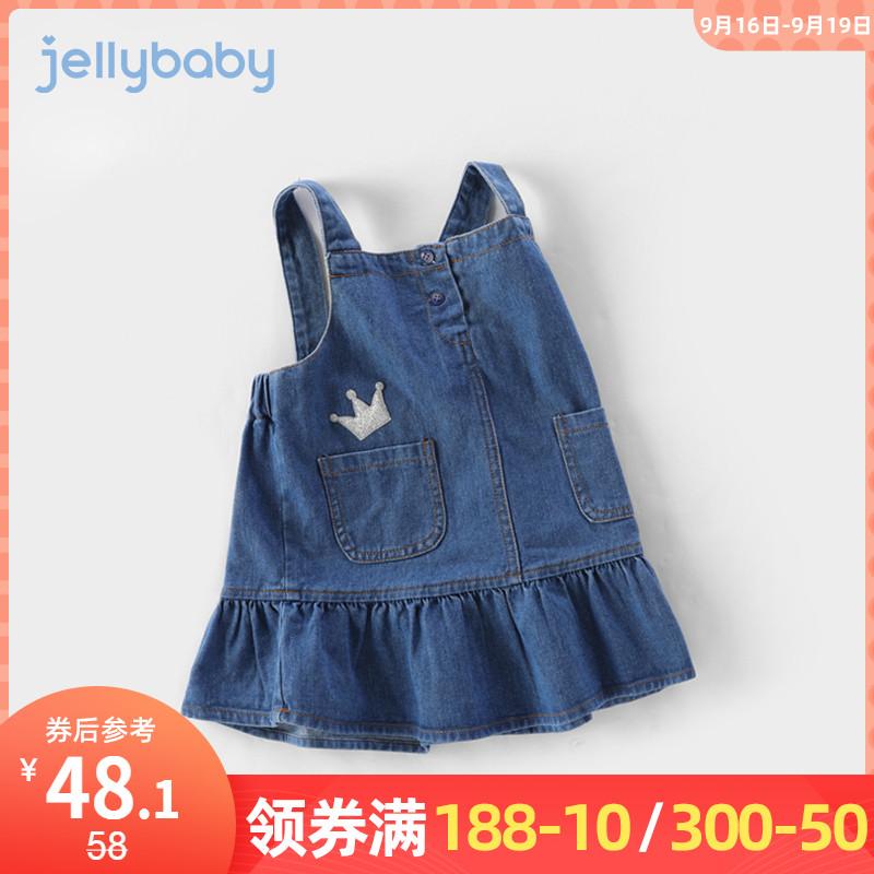 女童连衣裙春秋3一岁儿童牛仔裙子秋装小公主婴儿秋季5宝宝背带裙