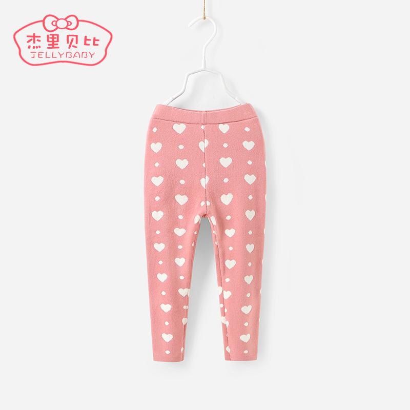 女寶寶針織褲3~5一歲兒童春秋毛線褲子厚款 2~6女童 打底褲