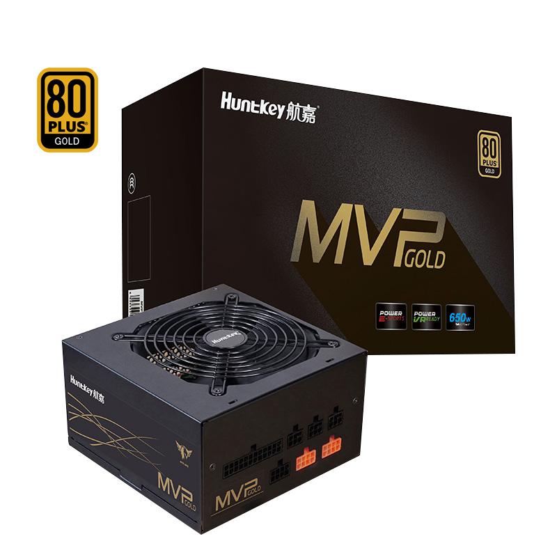 航嘉电源MVP K650全模组金牌日系电容智能风扇电竞台式主机电源