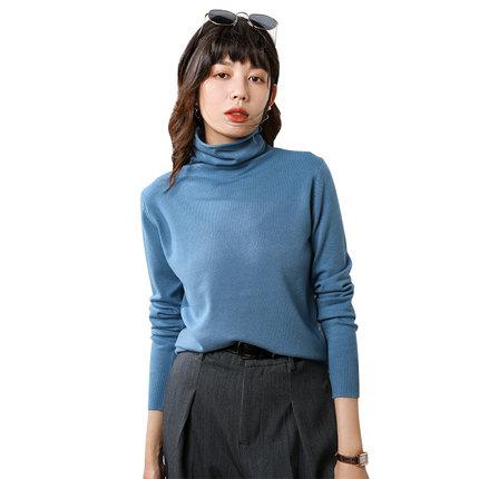 【品牌清仓】堆堆领短款宽松风针织衫
