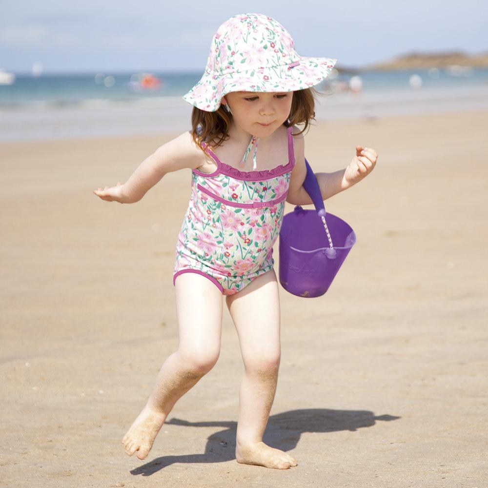 英国儿童连体泳衣女游泳馆宝宝双层防侧漏游泳衣小童公主裙式泳装
