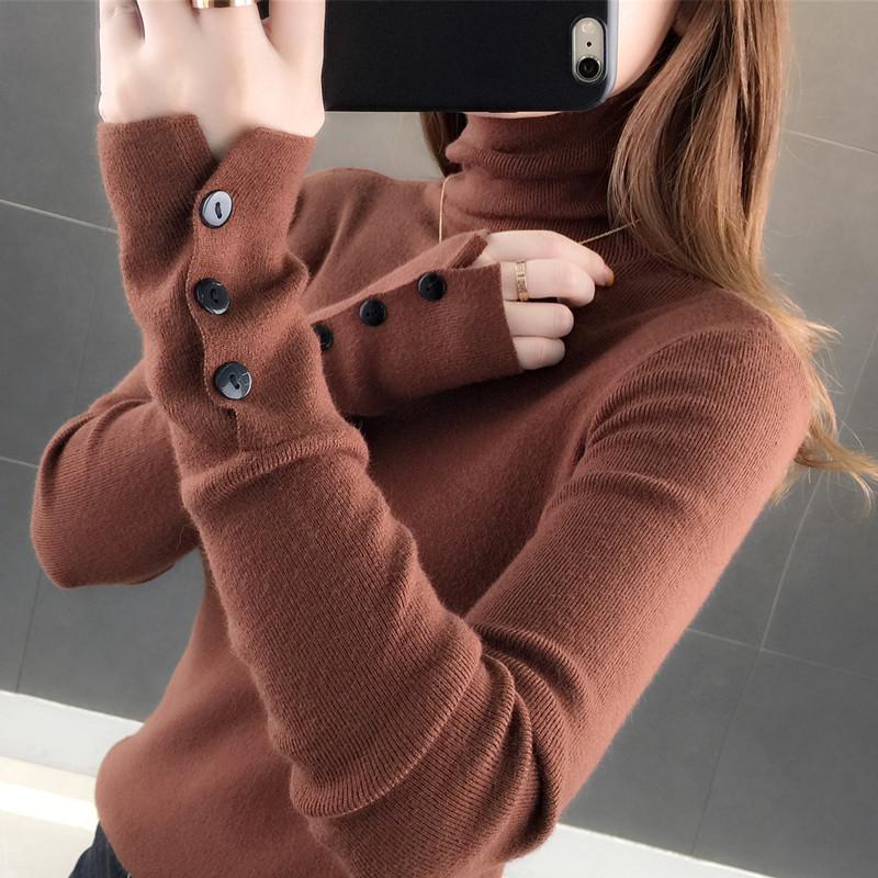 狄秋莎高领毛衣