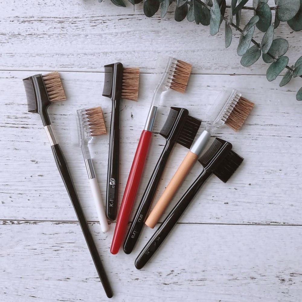 Daily single makeup brush beauty tools double-sided eyebrow brush eyelash brush eyelash comb eyebrow sweep eyebrow eyelash brush package mail