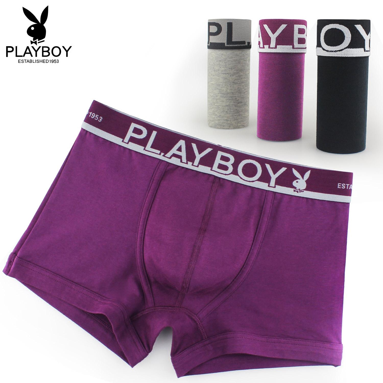 Playboy трусы мужчина мужской трусы мужчина брюки хлопок полный хлопок комфорт молодежь прямо трусы четыре углы