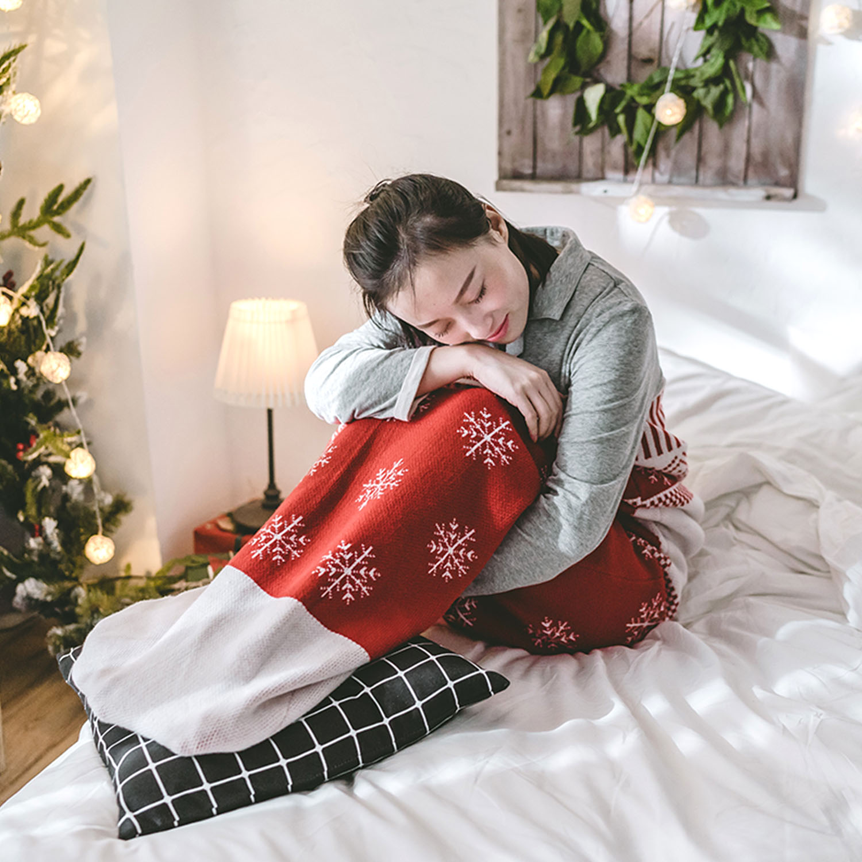CloudCosy 圣诞袜盖毯,圣诞节办公室礼物