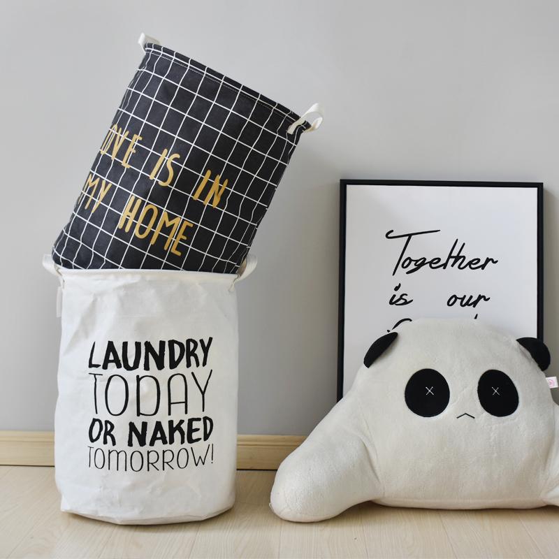 Нордический ткань многофункциональный хранение корзина грязный одежда корзины складные геометрическом волна спальня ребенок дом ванная комната висит сумка