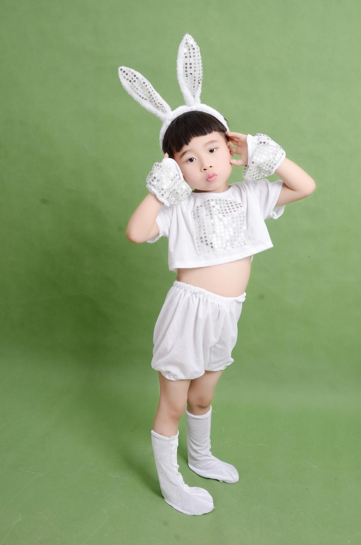 新品特惠六一夏款儿童演出服幼儿园舞蹈我不上你的当扬眉吐气兔子