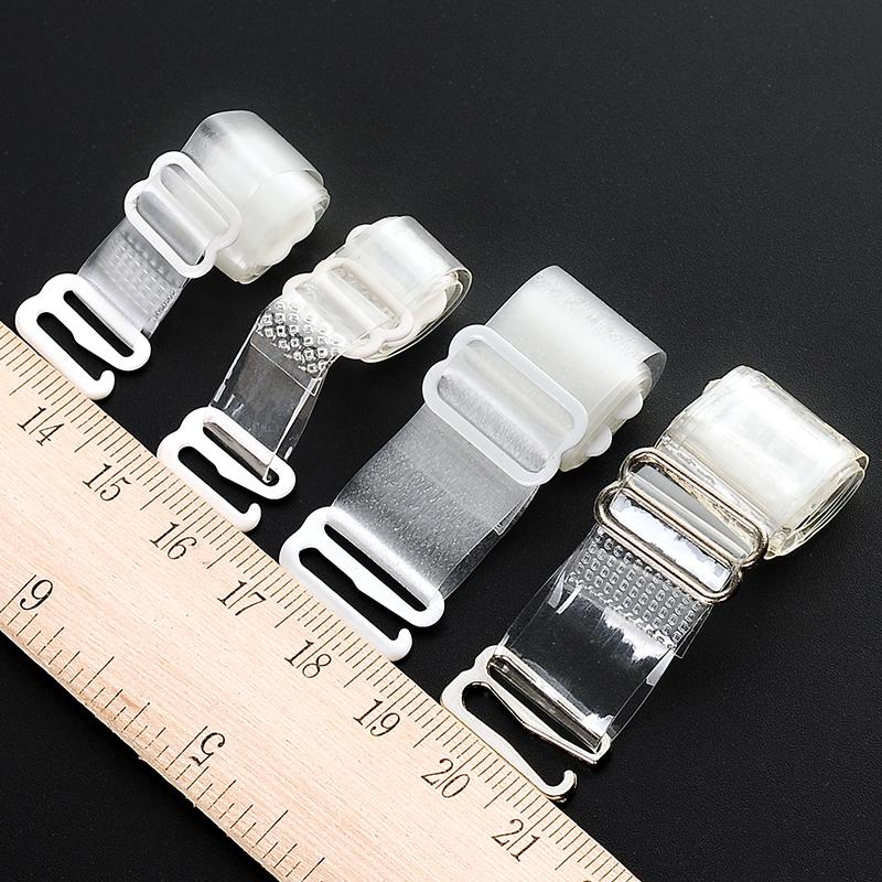 透明磨砂肩带文胸带子防滑透明加宽隐形带调整型内衣隐形硅胶肩带