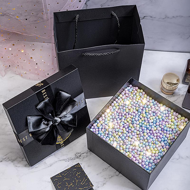 礼物盒子礼盒装ins风包装盒小空盒子生日礼品盒男生款创意网红大图片