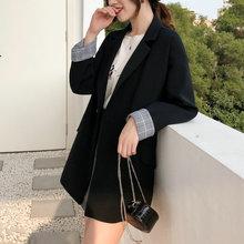 Chic春西装外套女2020新款网红韩版宽松学生ins港风黑色休闲百搭