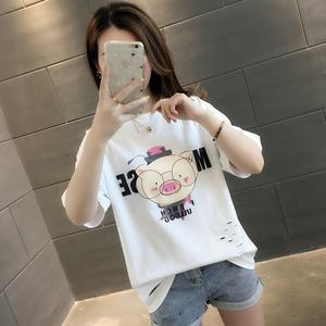 短袖白色t恤女夏装2021年新款夏季