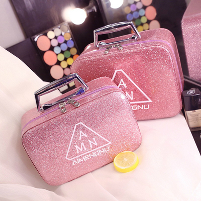 Cosmetic bag female portable large capacity ins wind super fire small storage bag cute cosmetic storage box box portable