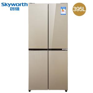 Skyworth/创维 D39H 395L 十字对开双开门家用一级节能四门电冰箱
