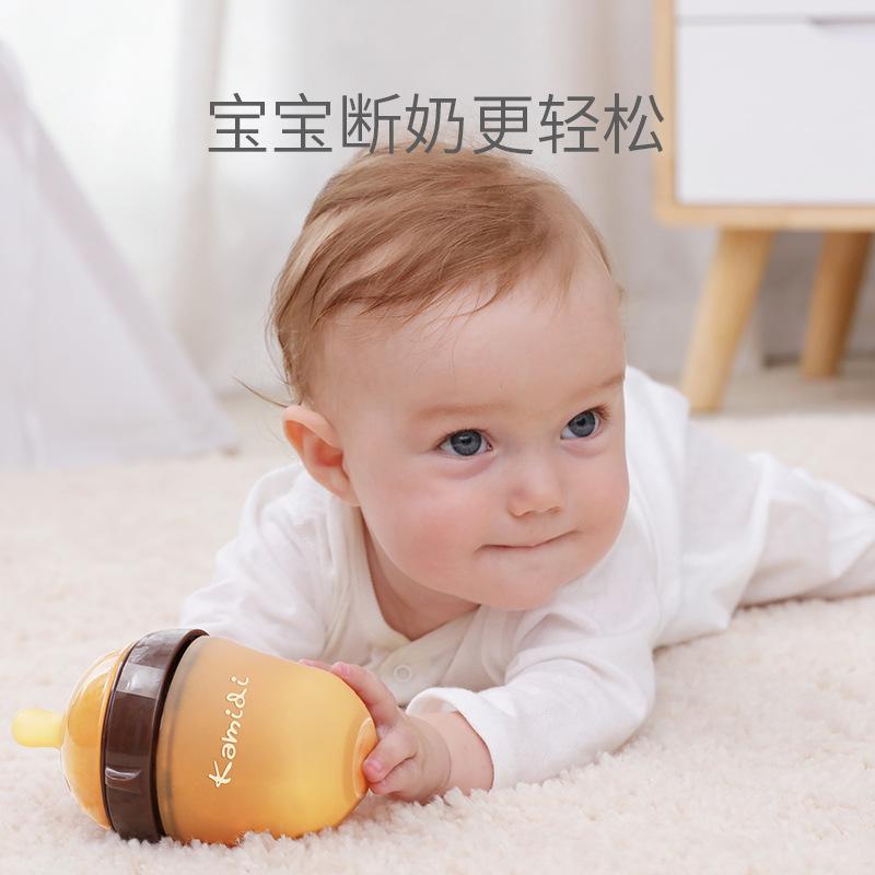 纳米银新生婴儿奶瓶ppsu耐摔硅胶戒断奶神器仿母乳宝宝吸管宽口径