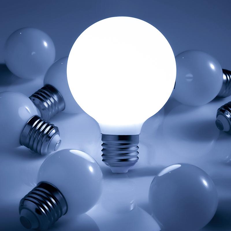KC燈具 e27螺口led燈泡3w5w7瓦家用台燈吊燈節能照明球泡白光黃光