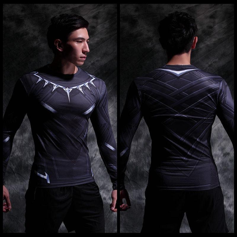 Vêtement fitness homme Hero manches longues en LYCRA Lycra - Ref 603249 Image 5