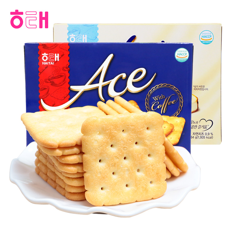 Haitai ace salty cheese biscuit 364g nutrition breakfast snack leisure net red snack