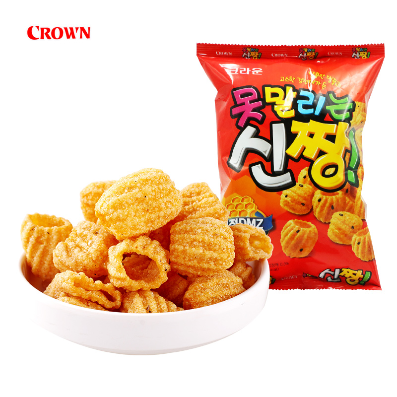 Korean imported food Christian crayon Xiaoxin sesame crispy puffed food 120g share snacks net red snacks
