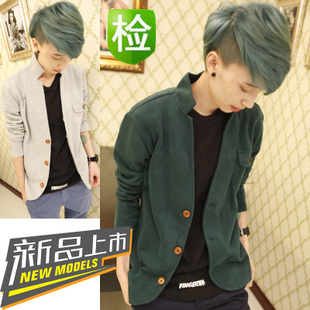 2015 Spring and Autumn men sweater England College retro wave Slim teen thin cardigan sweater jacket Men