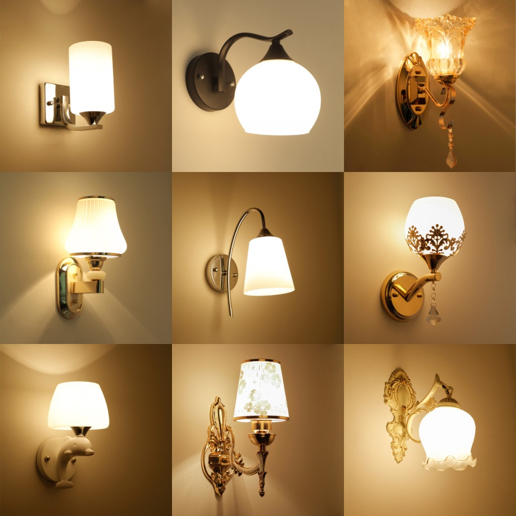 牆壁燈床頭燈復古卧室簡約現代創意歐式美式客廳led樓梯過道燈具