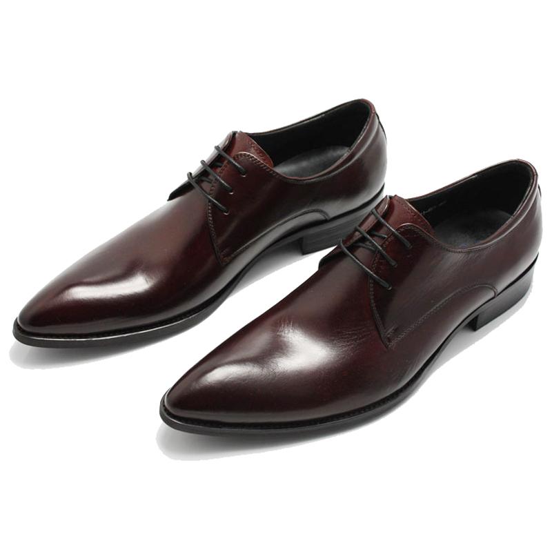 韩版潮流 个性棱形鞋头商务皮鞋男鞋 尖头皮鞋 男 韩版正装 系带