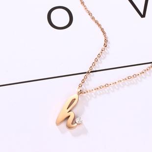 親愛的熱愛的楊紫佟年同款項鍊女鈦鋼網紅h字母簡約氣質鎖骨鏈潮