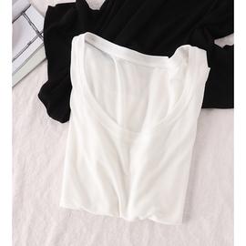 柔弱无骨 高档天丝婴儿般触感!女圆领短袖宽松弹力纯色T恤81035