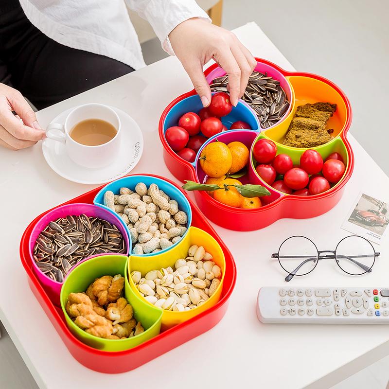 Творческий фрукты современный гостиная домой пластик кофейный столик решетка конфеты картридж крышка сухой фрукты семена нулю еда в коробку